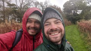 two man with raincoats